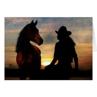 Pérdida de la condolencia de la vaquera y del tarjeta de felicitación