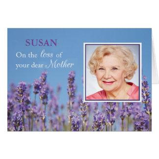 Pérdida de la condolencia de madre, foto de tarjeta de felicitación