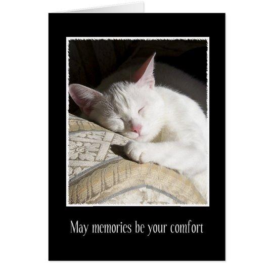 Pérdida de la condolencia del gato de tarjeta del