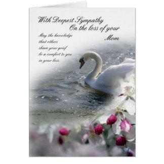 Pérdida de la tarjeta de condolencia de mamá