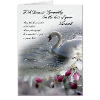 Pérdida de la tarjeta de condolencia de tía