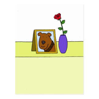 Pérdida de perro casero querido, condolencia postal