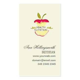Pérdida de peso de la nutrición de la salud de las tarjetas de visita