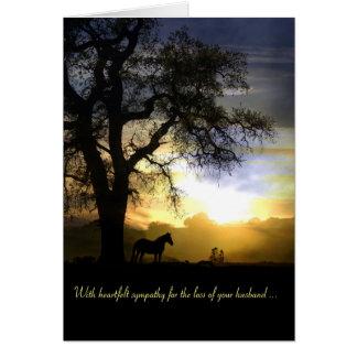 Pérdida de tarjeta de condolencia del marido