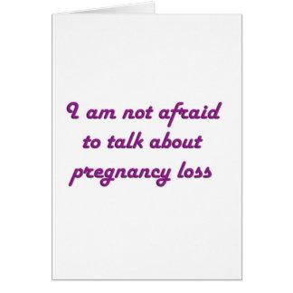 Pérdida del embarazo - púrpura tarjeta de felicitación