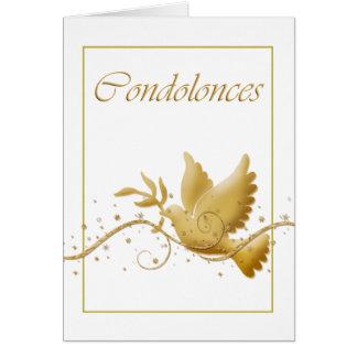 Pérdida del entierro de la condolencia tarjeta de felicitación