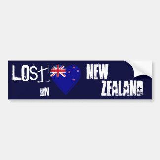 Perdido en corazón de la bandera de Nueva Zelanda Pegatina Para Coche