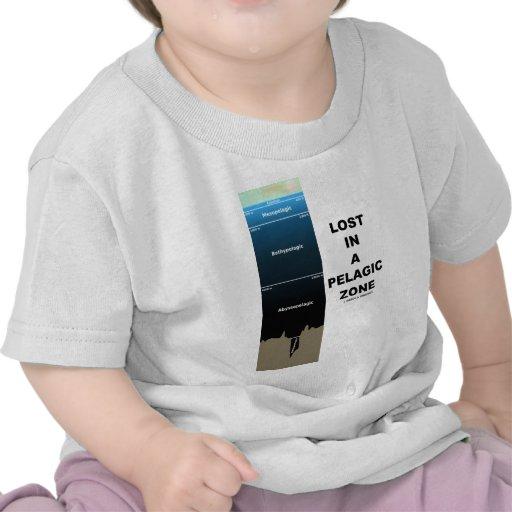 Perdido en una zona pelágica (humor de la oceanogr camisetas