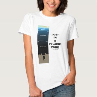 Perdido en una zona pelágica (océano de la camisetas