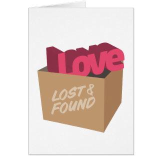 Perdido y encontrado: Plantilla de la tarjeta del