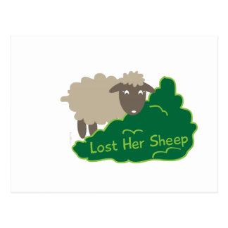 Perdió sus ovejas postal