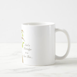 Perdiz en un peral taza de café