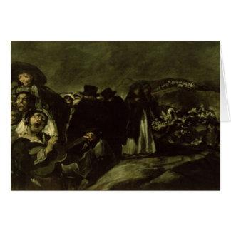 Peregrinaje a la fuente de San Isidro, c.1821/3 Tarjetón