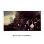 Peregrinaje de Francisco De Goya Tarjeta Postal