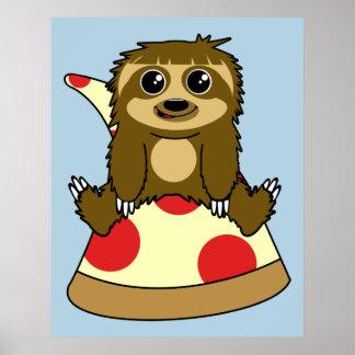 Pereza de la pizza póster