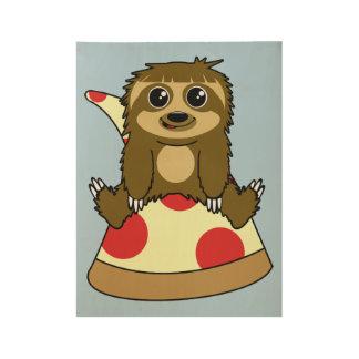 Pereza de la pizza póster de madera