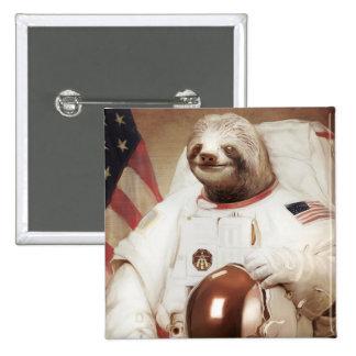 Pereza del astronauta chapa cuadrada 5 cm