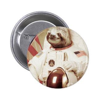 Pereza del astronauta chapa redonda 5 cm