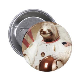 pereza del astronauta chapa redonda de 5 cm