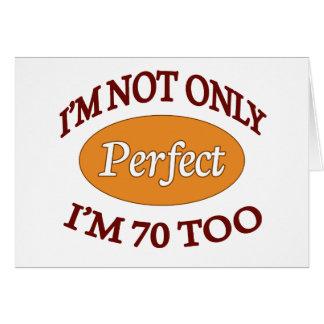 Perfeccione 70 años tarjetón
