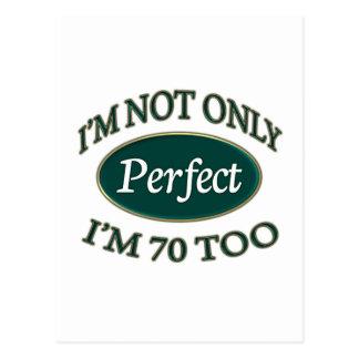 Perfeccione 70 años postal