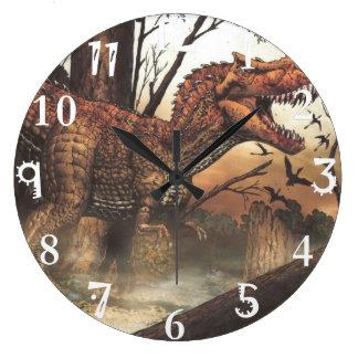 Perfeccione para cualquier pared-diseño de la reloj redondo grande