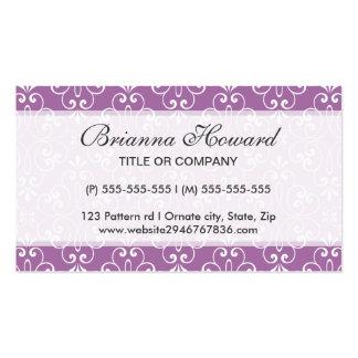 Perfil adornado elegante elegante y de moda del tarjetas de visita
