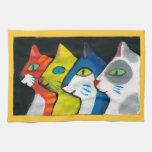 perfil colorido de los gatos toallas de cocina