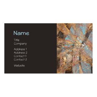 Perfil corporativo grabado en relieve oro moderno tarjetas de visita