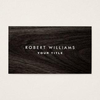 Perfil de madera oscuro del profesional del grano tarjeta de negocios