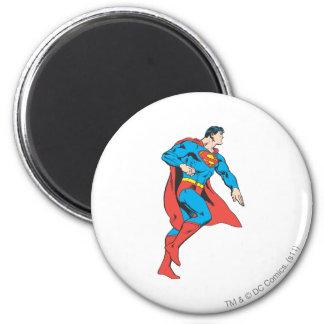 Perfil del superhombre imán redondo 5 cm