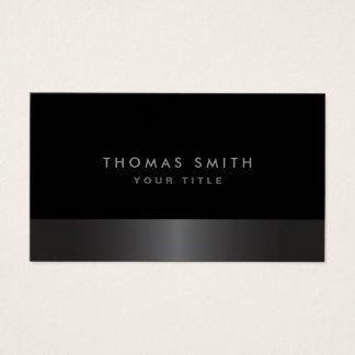 Perfil gris oscuro y negro con clase elegante tarjeta de negocios