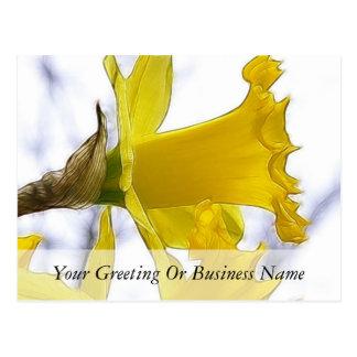 Perfil - narciso amarillo brillante postales