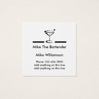 Perfil simple del camarero tarjeta de visita cuadrada