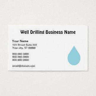Perforación bien tarjeta de negocios