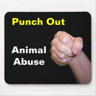 Perfore hacia fuera el abuso animal alfombrilla de ratón