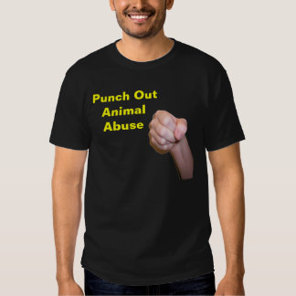 Perfore hacia fuera el abuso animal camiseta