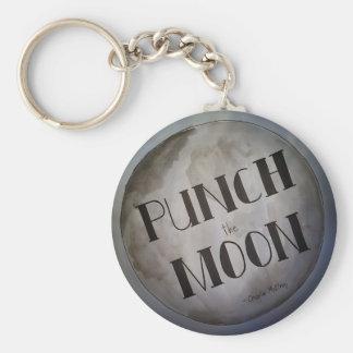 Perfore los productos de la luna llavero