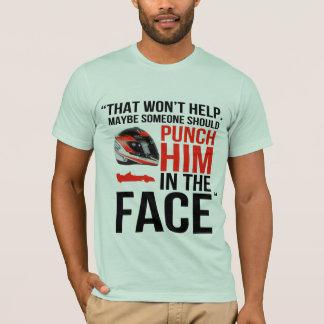 perfórelo en la cara camiseta