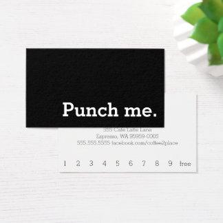 Tarjeta De Visita Perfóreme tarjeta perforada oscura simple del café