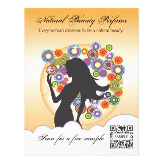 Perfume de la plantilla del aviador folleto 21,6 x 28 cm