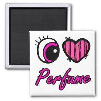 perfume del corazón del corazón i del ojo del emo imán cuadrado
