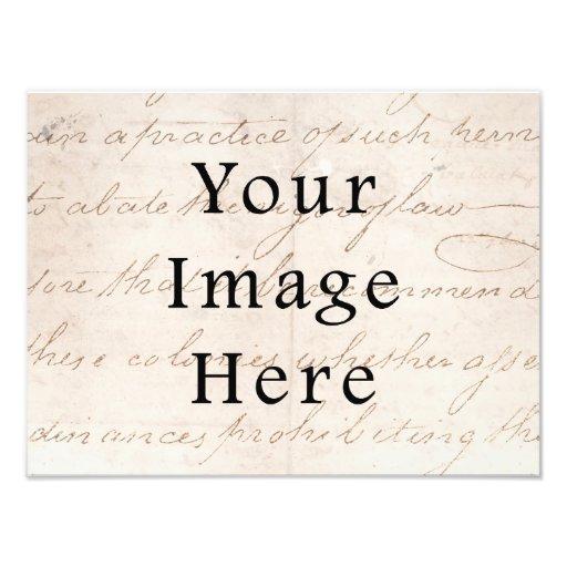 Pergamino del texto de la escritura de Brown de la Foto