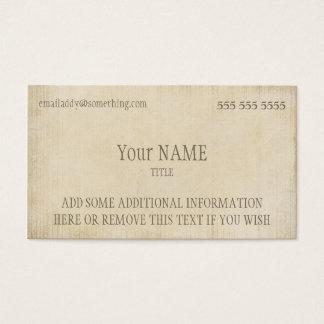 Pergamino del vintage tarjeta de visita