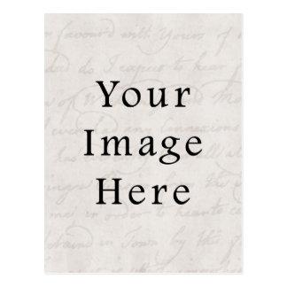 Pergamino gris claro blanco del texto de la escrit postal