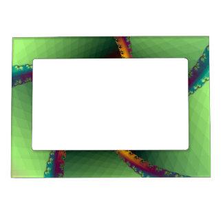 Perinola magnética del marco en verde marcos magnéticos de fotos