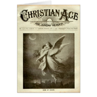 Periódico cristiano tarjeta de felicitación