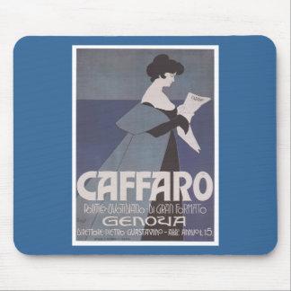 Periódico de Caffaro del ~ de Nouveau del arte Alfombrilla De Raton