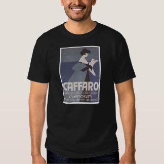 Periódico de Caffaro del ~ de Nouveau del arte Camiseta