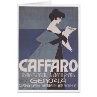 Periódico de Caffaro del ~ de Nouveau del arte Tarjeta De Felicitación